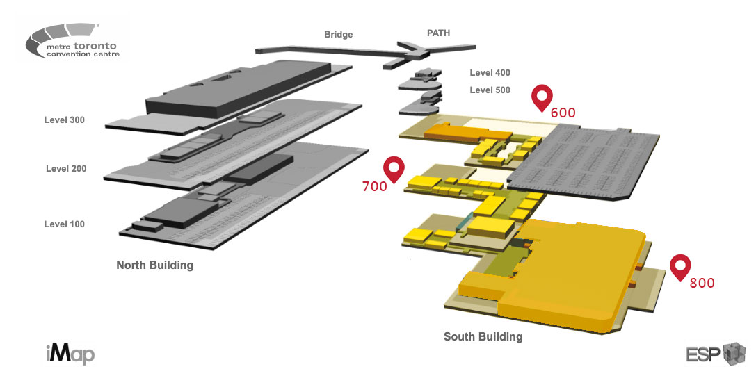 floor plan of south building at MTCC