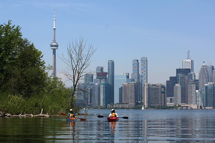 toronto waterfront with CN tower in view