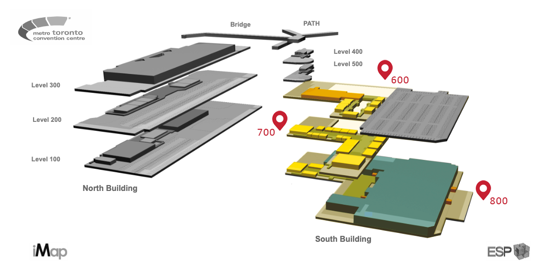Convention Centre South Building Map