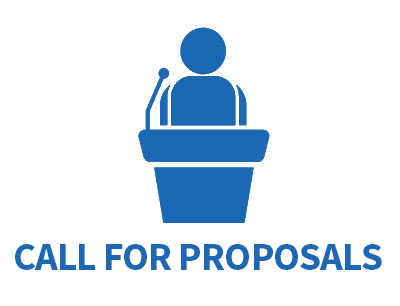 Call for proposals graphic with speaker microphone