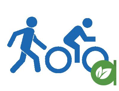 Walking and Biking Graphic