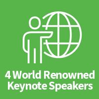 World renowned speaker icon
